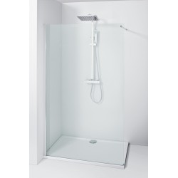 Paroi de douche walk in - transparente - 100 x 195 cm - Lago - ALLIBERT