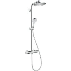 Ensemble de douche chromé - mitigeur thermostatique - Crometta S240 - HANSGROHE